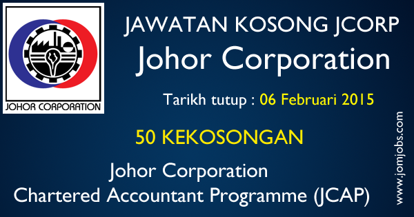 Jawatan Kosong JCorp 2015 - Johor Corporation Chartered Accountant Programme