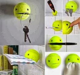 #فكرة استعمال خطير لكرة المضرب !! افكار جديدة و متنوعة, افكار منزلية ,اعادة استعمال,