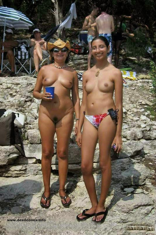 Nude indians in beach