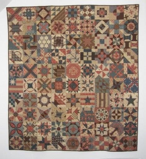 1865 passion sampler quilt