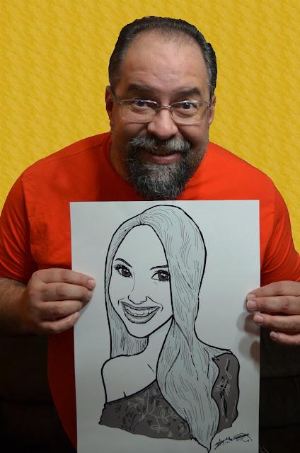 Caricaturista Marcelo Lopes de Lopes e a caricatura M2LOPES