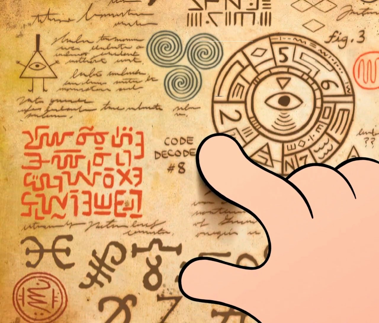 Bill Cipher, illuminati, mason, Gravity falls