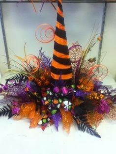 Multinotas centros de mesa halloween sombreros for Centros de mesa para halloween