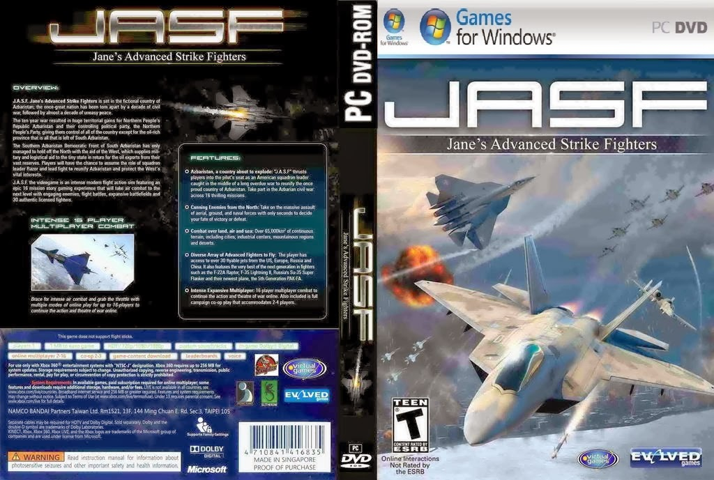 Jane's Advanced Strike Fighters PC DVD Capa