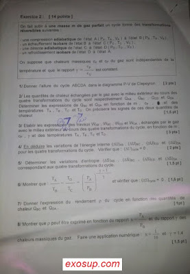 exam final thermodynamique 1 smpc s1 fsr