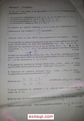 exam final thermodynamique 1 smpc s1 fsr