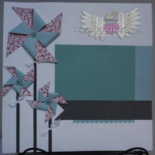 Pinwheel Scrapbook Page