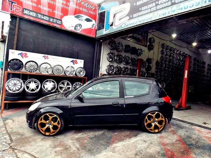 "Ford Ka Rebaixado + Turbo + Aro 18"""