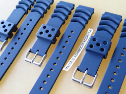 SEIKO RUBBER STRAP BLUE WAVE VENT 20mm