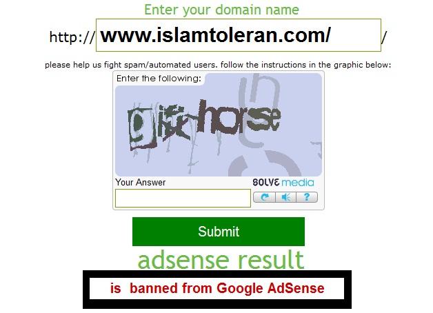 ISLAMTOLERAN.COM Domain ini di Jual Mungkin Akun Google Adsense Dia Di Banned