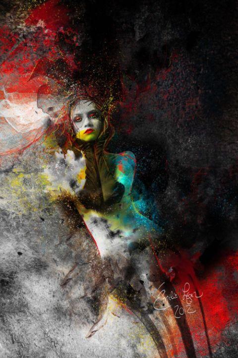 emilie leger foto manipulação digital surreal mulheres modelos sombria A estranha