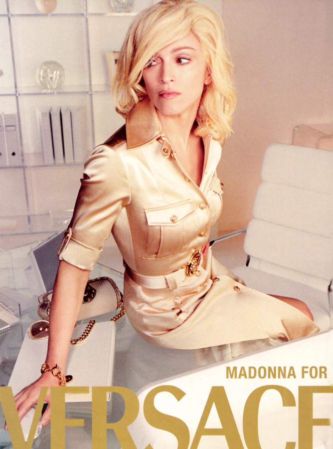 Madonna Versace Fashion
