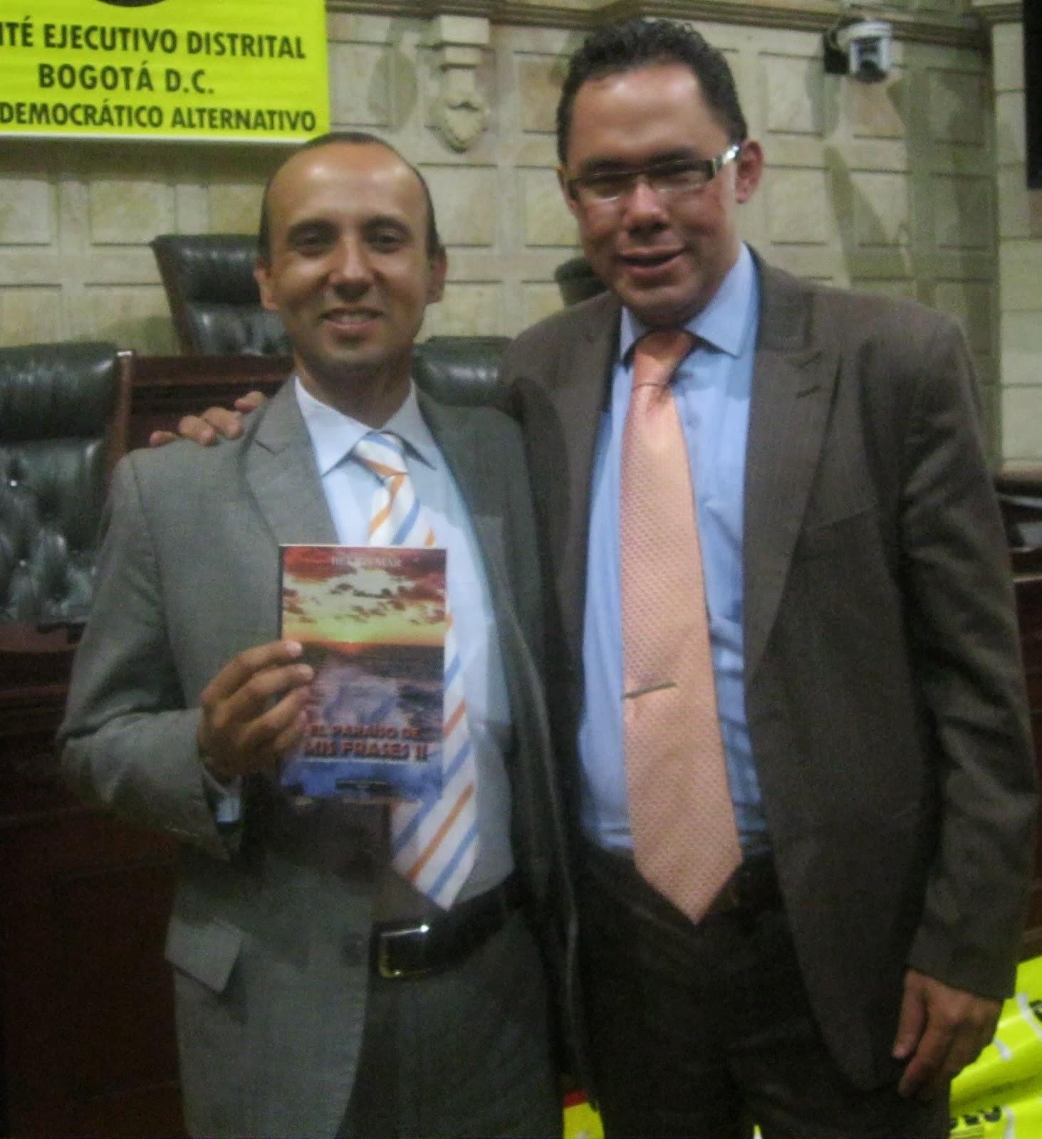 HELIOS MAR con su amigo y seguidor, Dr. PEDRO RUBIO.