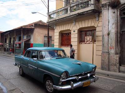 Santiago de Cuba green vintage car