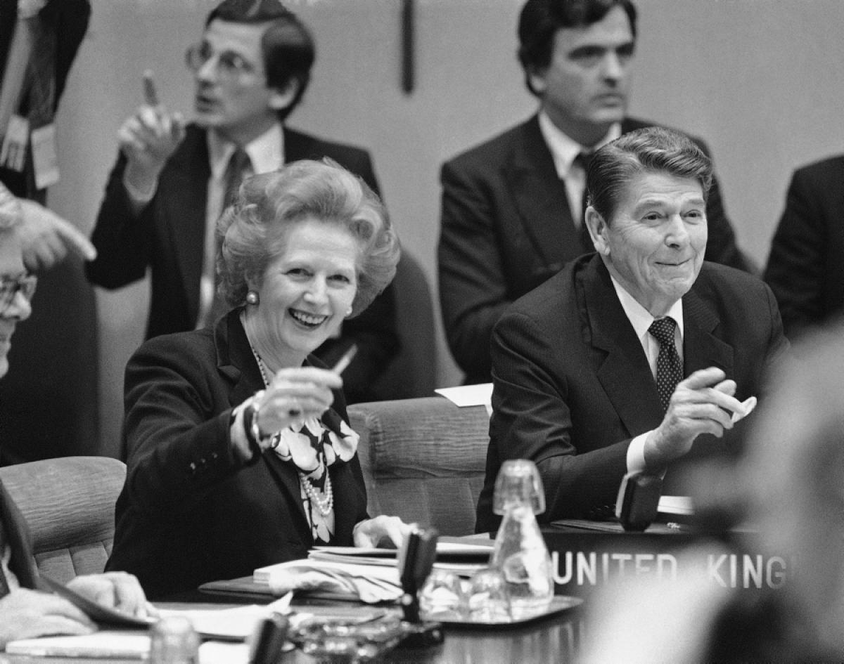 Margaret Thatcher e Ronald Reagan