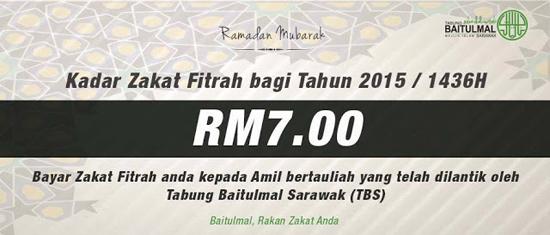 Kadar Zakat Negeri Sarawak 1436H
