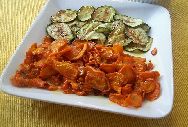 how to make baked carrot crisps