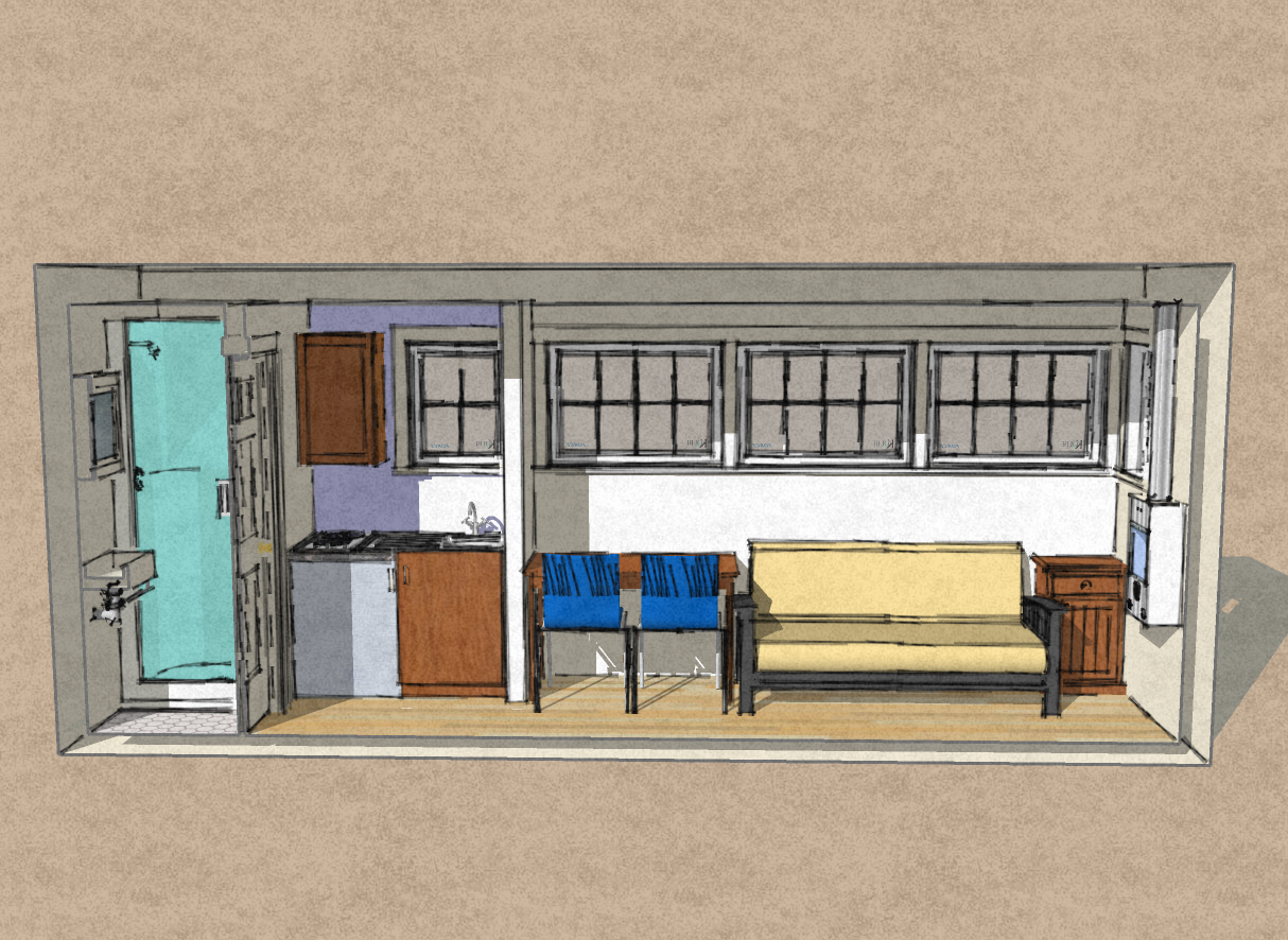 small scale homes: new 8' x 20' shipping container home design