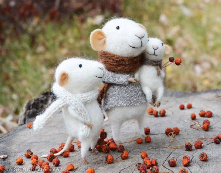 Felting Dreams by Johana Molina Stunning Pictures of Mice Mi-mi and Mouse that'll Warm in Winter