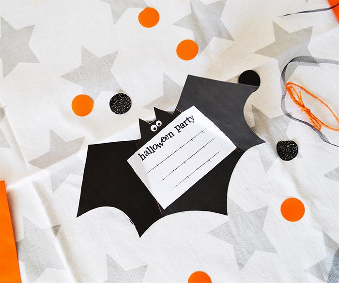 scarica biglietto di invito pipistrello per la festa di halloween