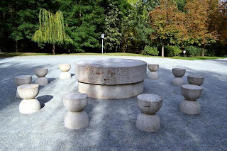 Targu Jiu - Table of Silence, by Constantin Brancusi