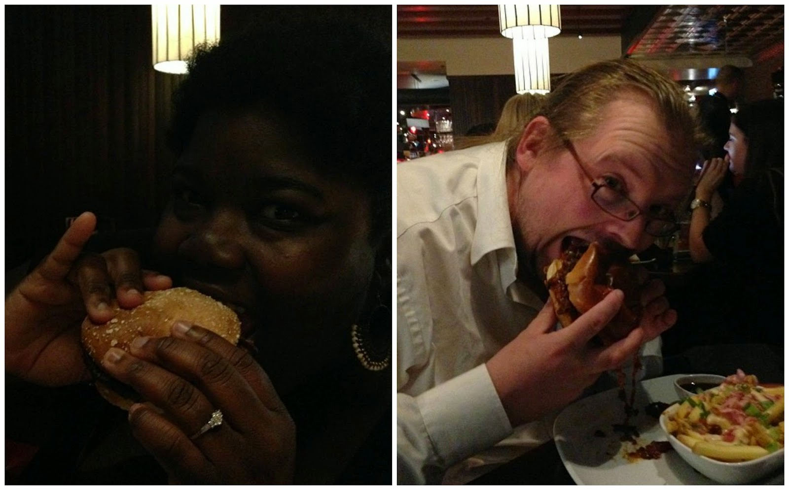 Getting our #burgerfaces on.
