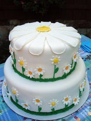 Tarta de flores margaritas