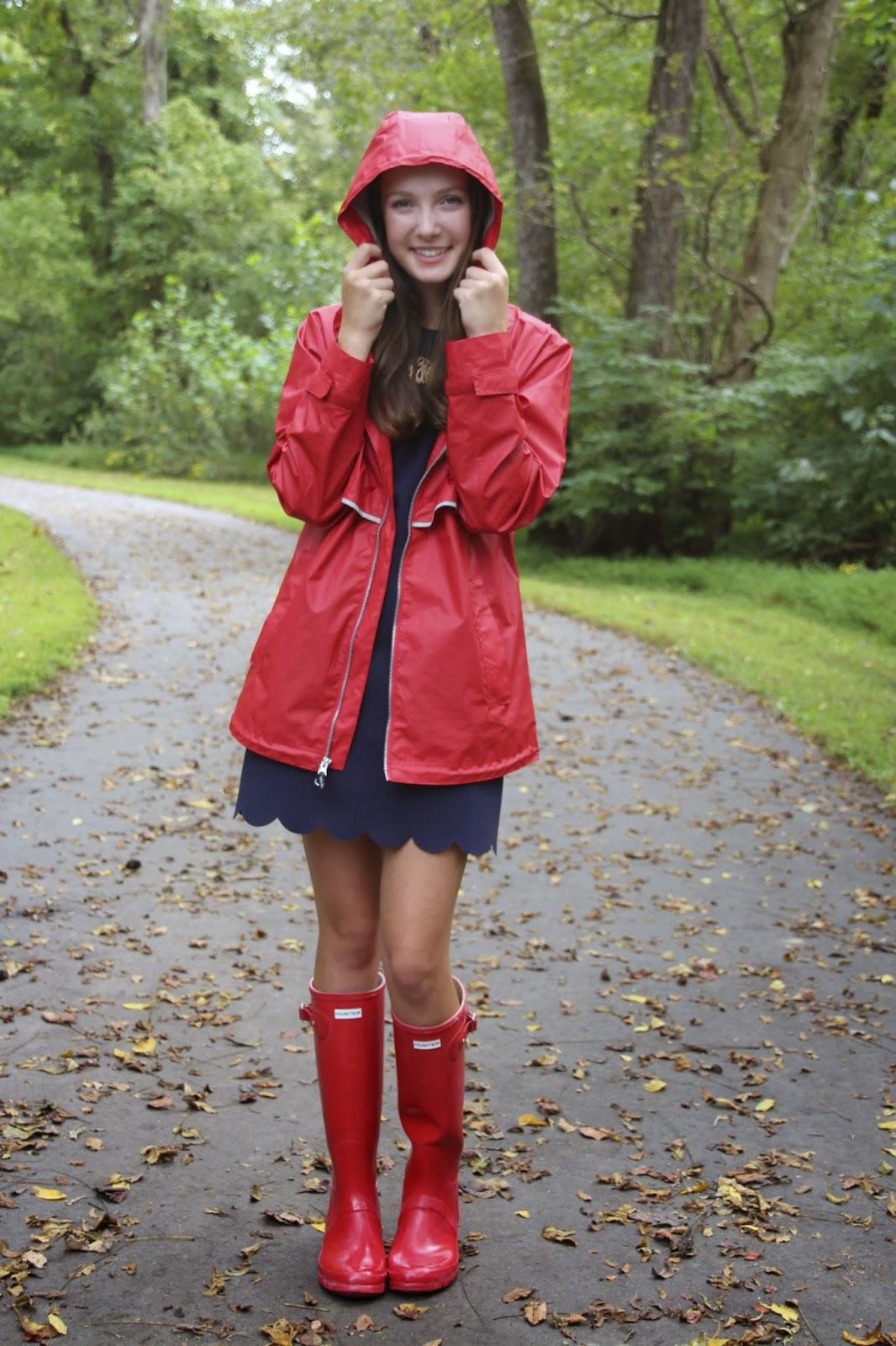 gimme glamour  charles river rain jacket