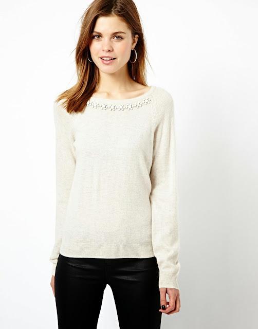cream jewel jumper