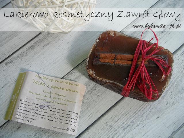 Pszczela Dolinka mydło miodowe z cynamonem cynamon kosmetyki naturalne ręcznie robione