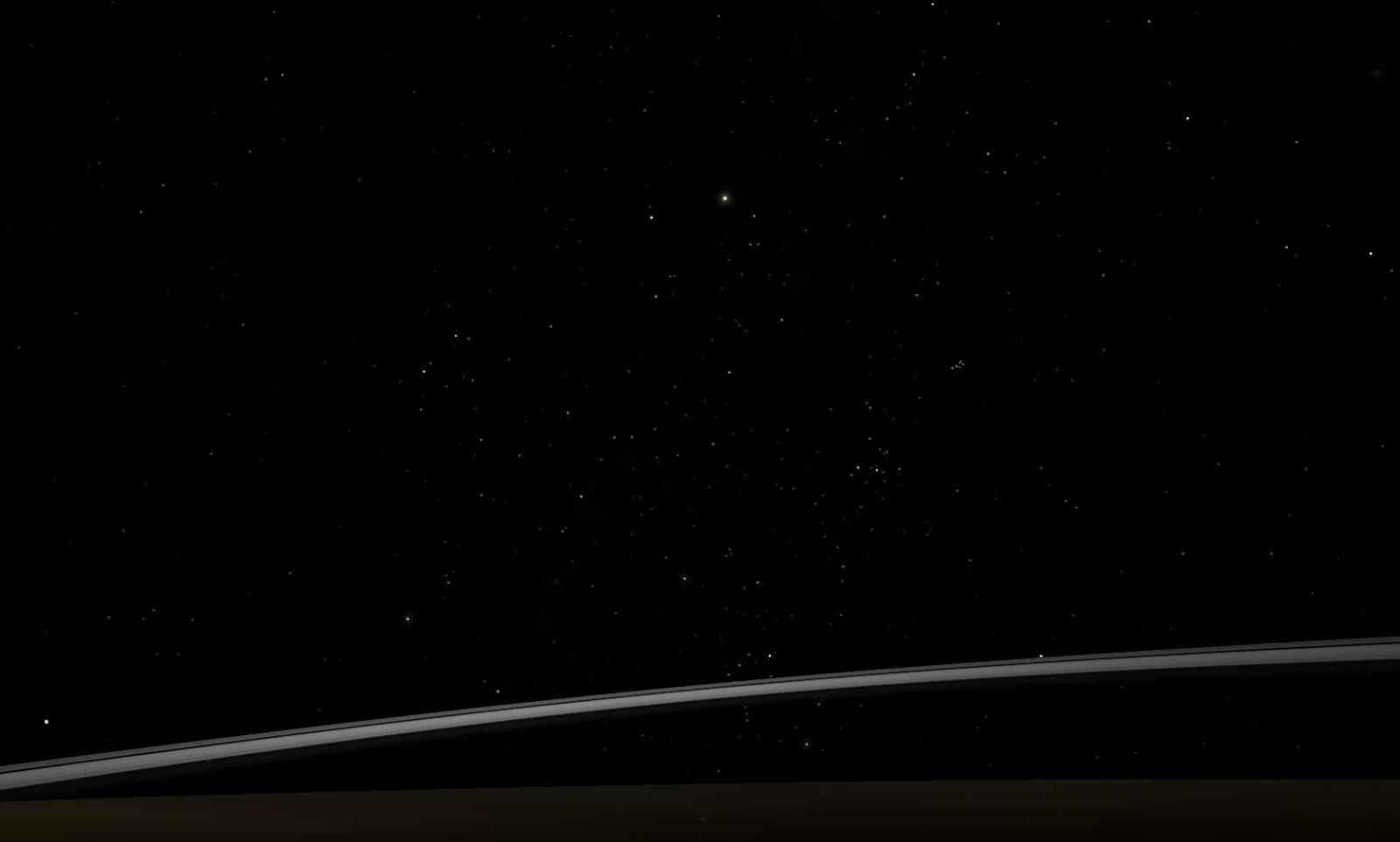 Vành đai của hành tinh Thổ và vệ tinh Titan của nó trong chòm sao Orion. Tác giả : John Brady ở Astronomy Central trên mạng xã hội Reddit.