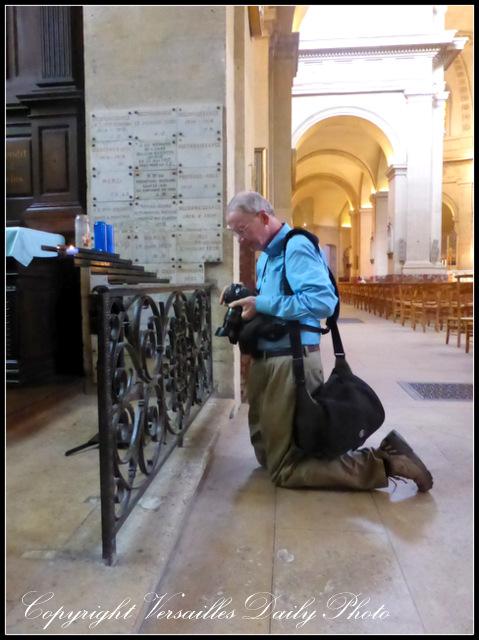 Kneeling in Notre Dame Versailles