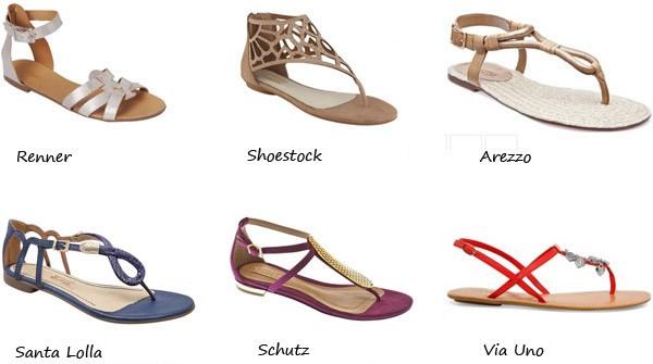 Sandálias rasteirinhas: Moda Verão