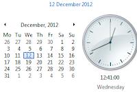 December 12-12-12 Calendar