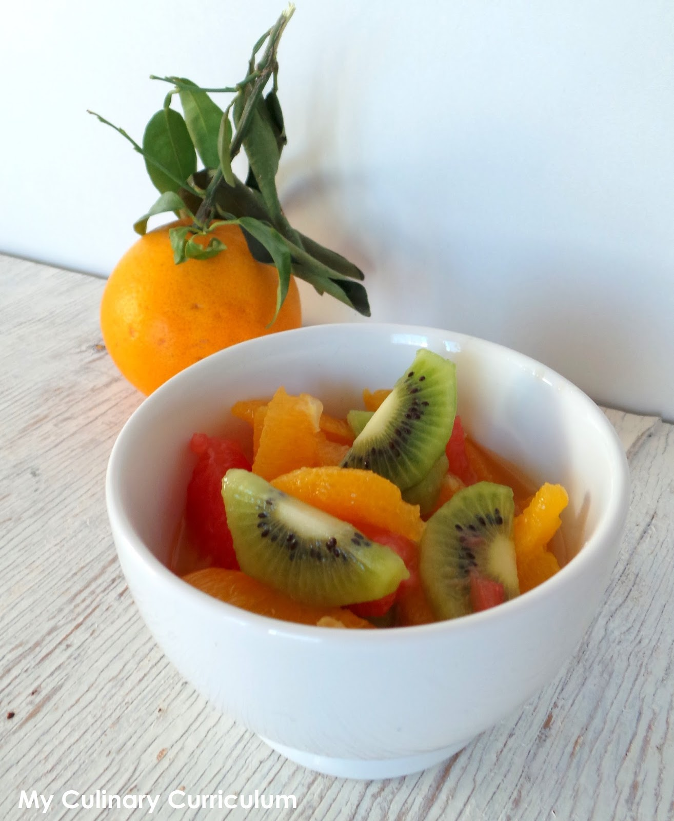 My Culinary Curriculum Salade D Oranges Pomelos Kiwis A La Fleur