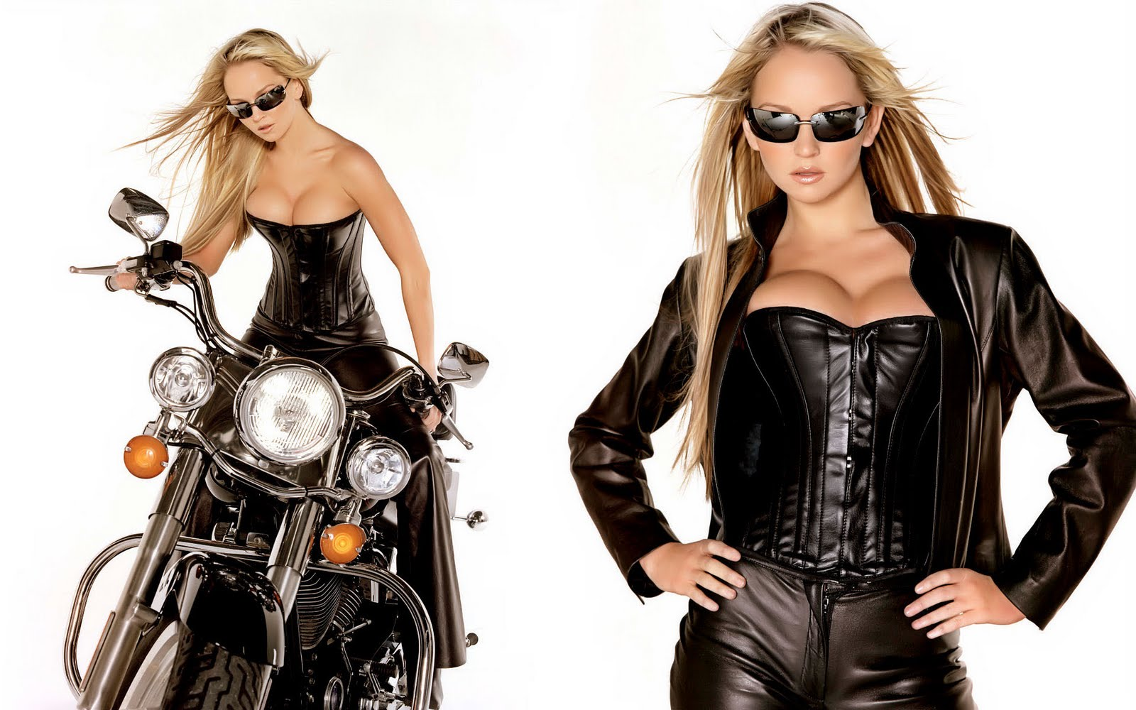 Jennifer-Ellison-With-harley-Davidson-HQ-Walpapers