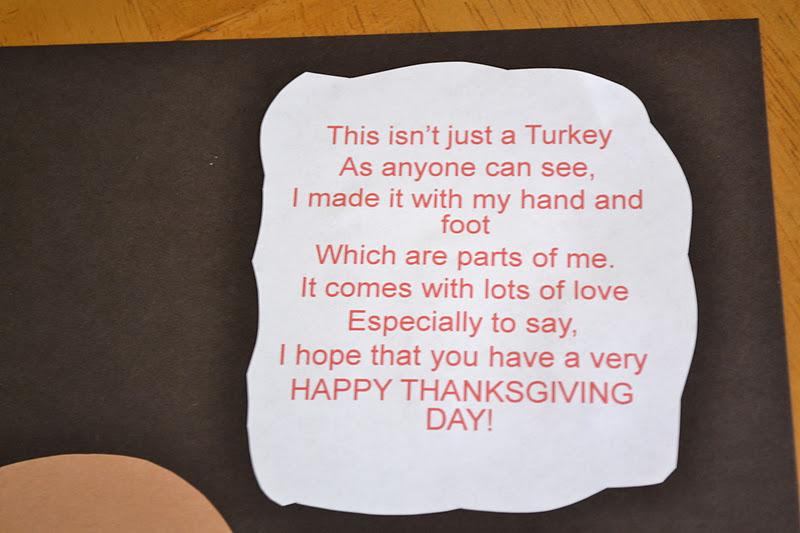 Mamas Like Me: Hand/Footprint Turkeys & A Poem