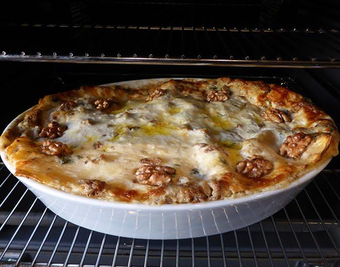 Lasagne con noci e basilico