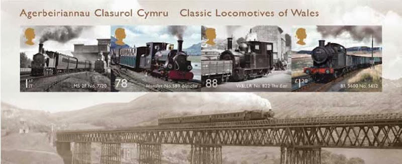 Welsh locomotives miniature sheet.