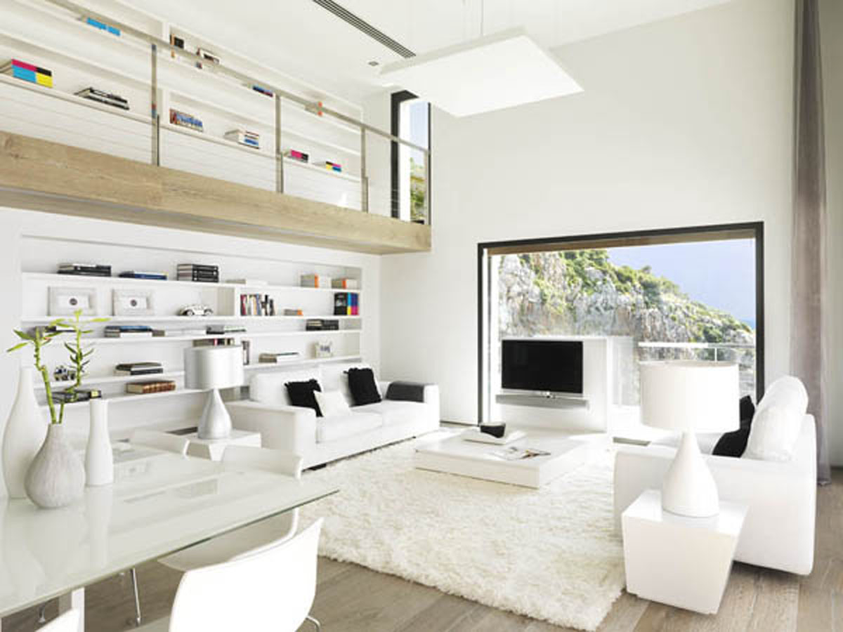 Wonderful white living room interior ideas wonderful for Interieur maison contemporaine