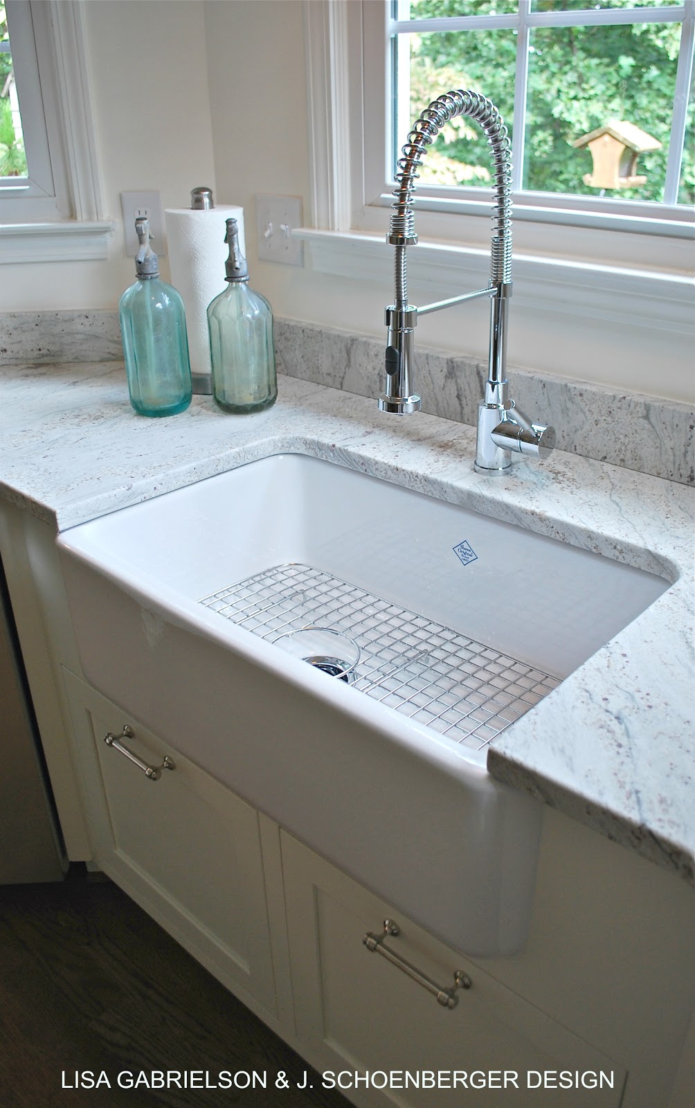 before and after client kitchen reveal shaws farmhouse sink long live the queen