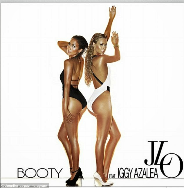 Jennifer Lopez & Iggy Azalea Show Off Their SUPER-Toned Booties For 'Booty' Artwork! SOoooo Much Booty!!