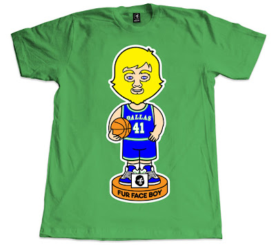 """Fur Face Diggler"" Dallas Mavericks T-Shirt by Fur Face Boy"