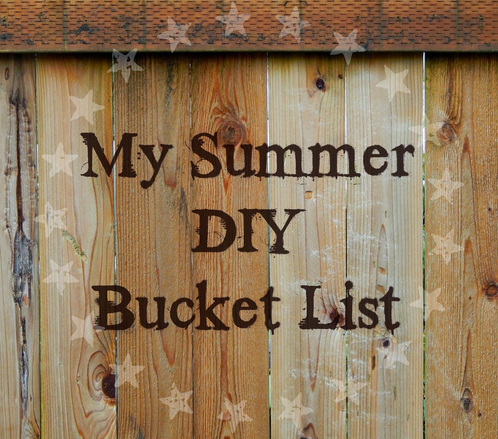 My summer DIY bucket list