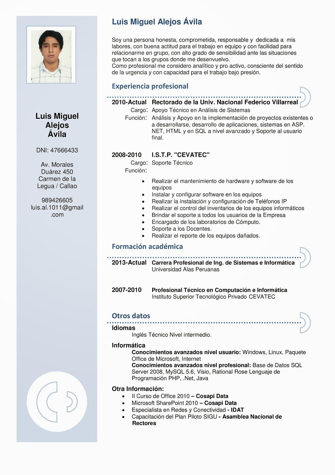 Increíble Ejemplos De Perfil De Currículum Para Estudiantes ...