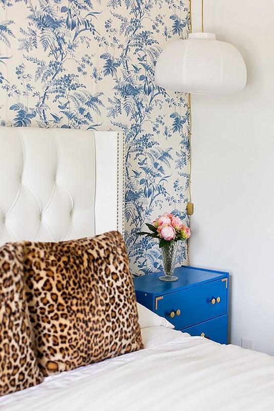 chambre bleue idee deco