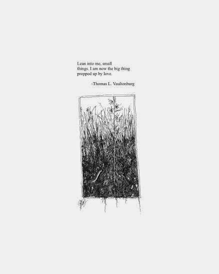 Tiny Drawing Poem by artist Jenny Mathews and poet Thomas L. Vaultonburg
