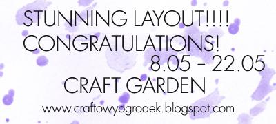 http://craftowyogrodek.blogspot.com/2014/05/wyniki-wyzwania-mediowy-layout-results.html