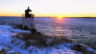 Océano de luz casa sol invierno