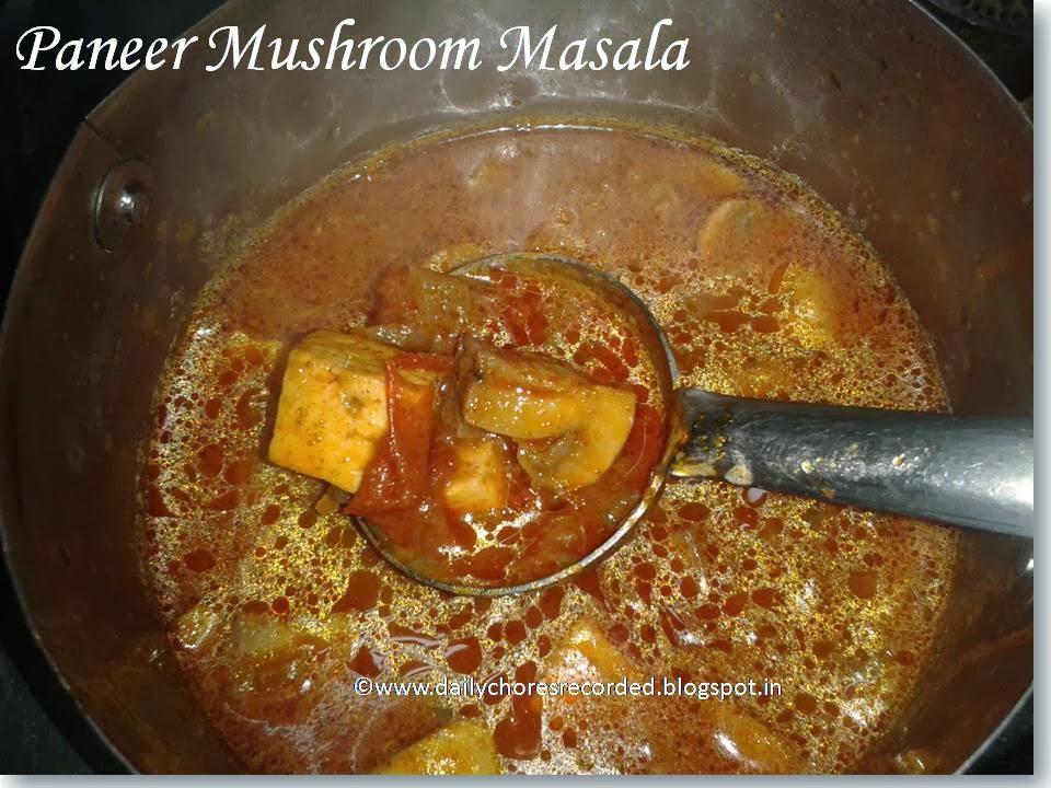 Paneer Mushroom Masala